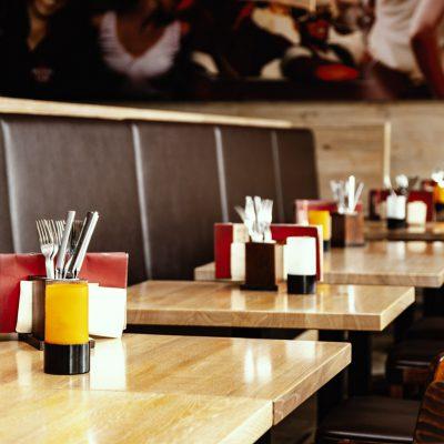 Tische Restaurant Walldorf eingedeckt