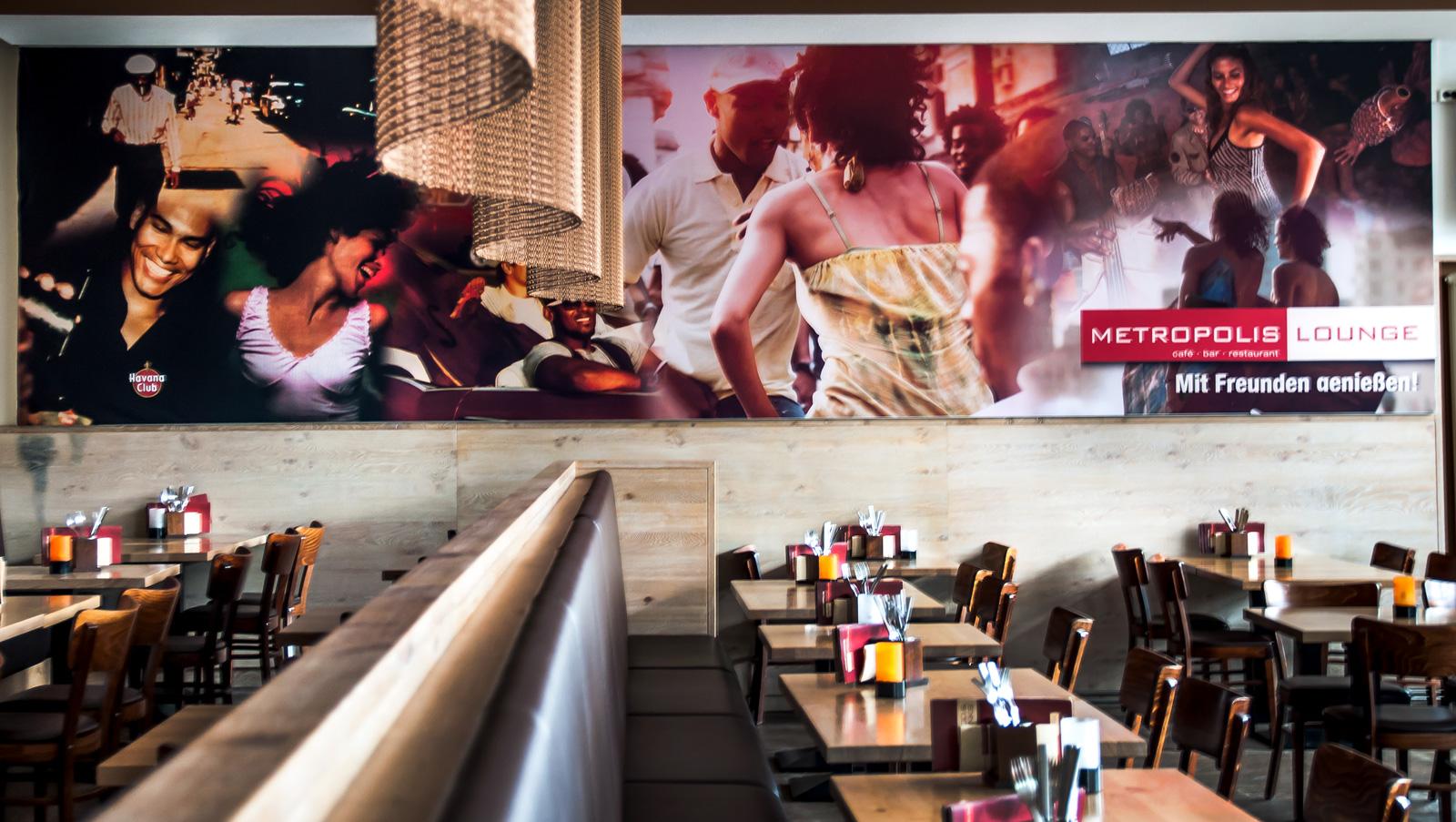Sitzbereich Restaurant Metropolis Walldorf